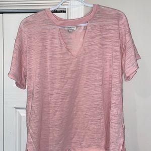 Luck brand pink t shirt
